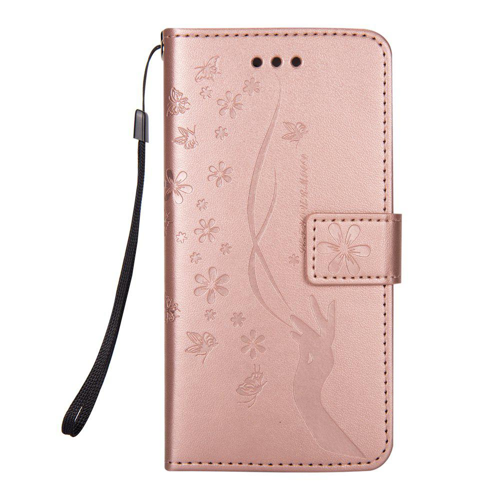 New Slender Hand PU Leather Dirt Resistant Phone Case for iPhone 8