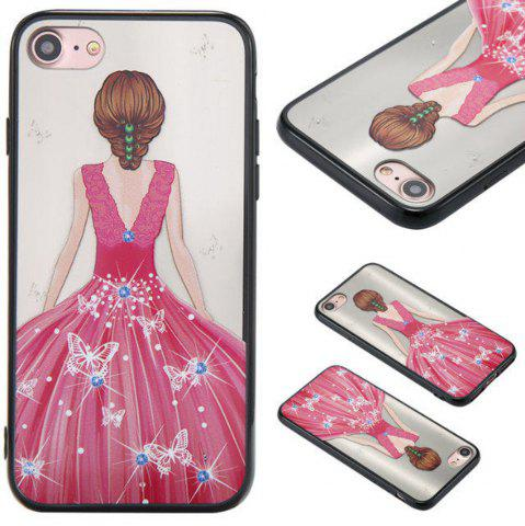 Cheap Cute Girl Pattern TPU and PC Back Case for iPhone 7