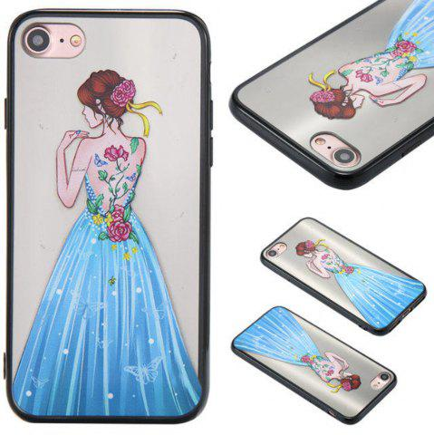Trendy Cute Girl Pattern TPU and PC Back Case for iPhone 7