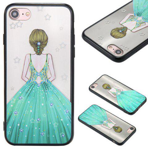 Affordable Cute Girl Pattern TPU and PC Back Case for iPhone 7