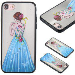 Cute Girl Pattern TPU and PC Back Case for iPhone 7 -