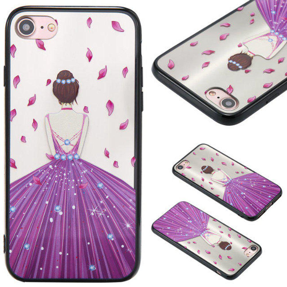 Discount Cute Girl Pattern TPU and PC Back Case for iPhone 7
