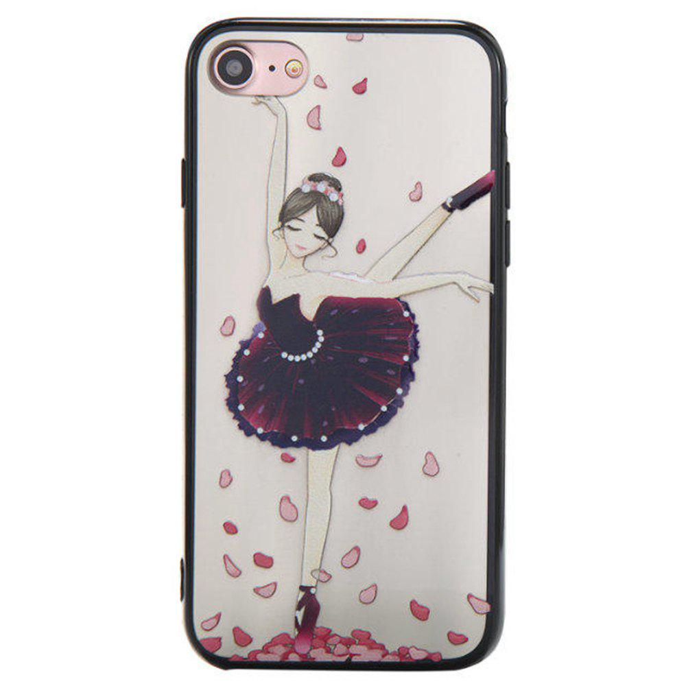 Best Cute Girl Pattern TPU and PC Back Case for iPhone 7