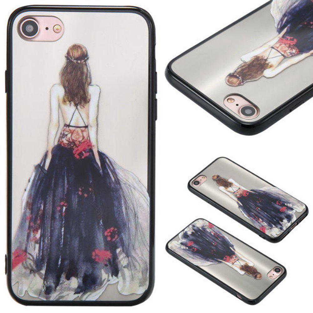 Outfit Cute Girl Pattern TPU and PC Back Case for iPhone 7