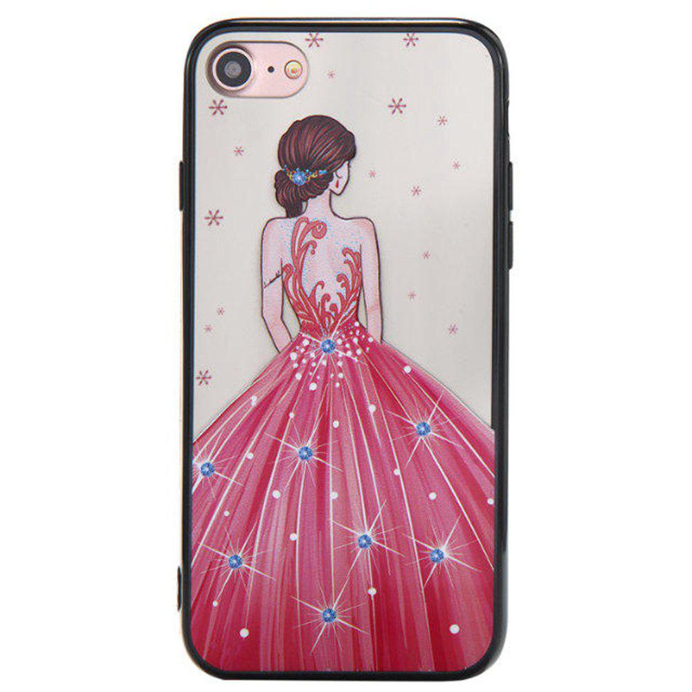 Sale Cute Girl Pattern TPU and PC Back Case for iPhone 7