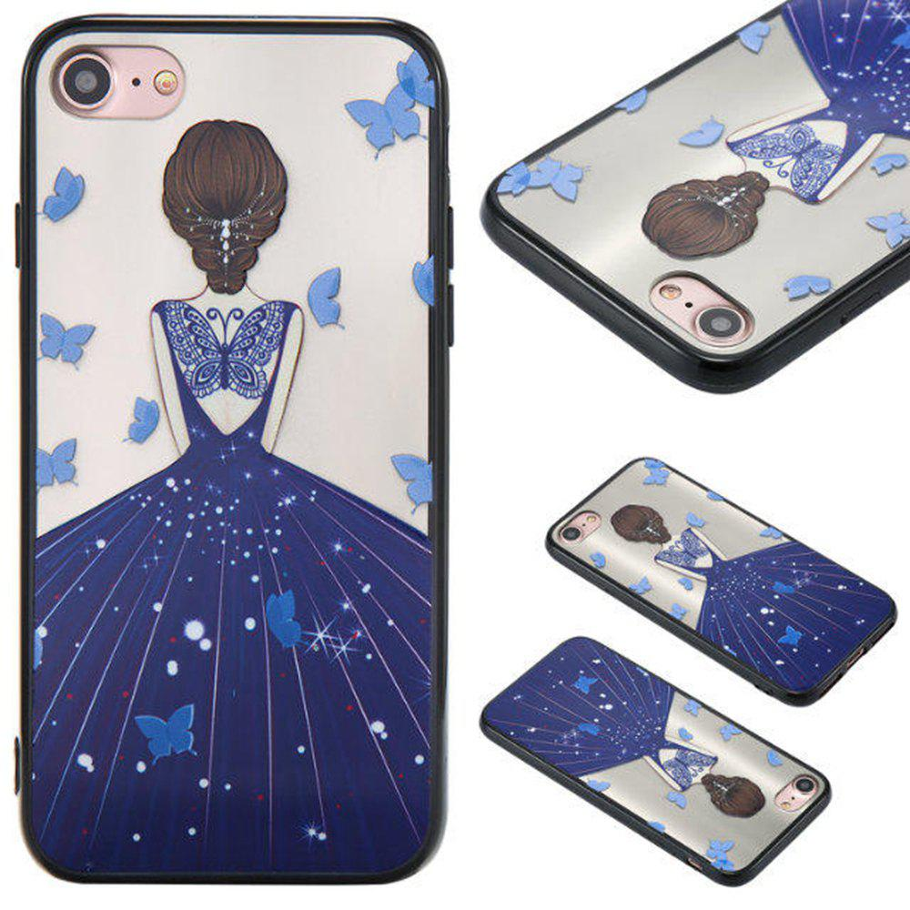 Fashion Cute Girl Pattern TPU and PC Back Case for iPhone 7