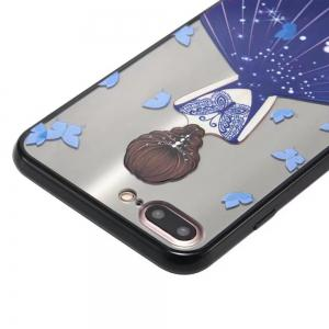Cute Girl Pattern TPU and PC Back Case for iPhone 7 Plus -