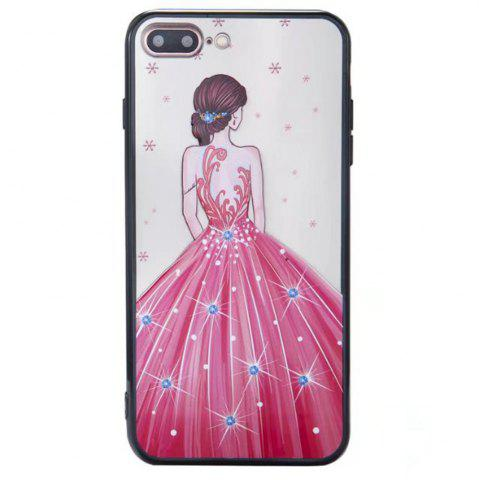 Hot Cute Girl Pattern TPU and PC Back Case for iPhone 7 Plus