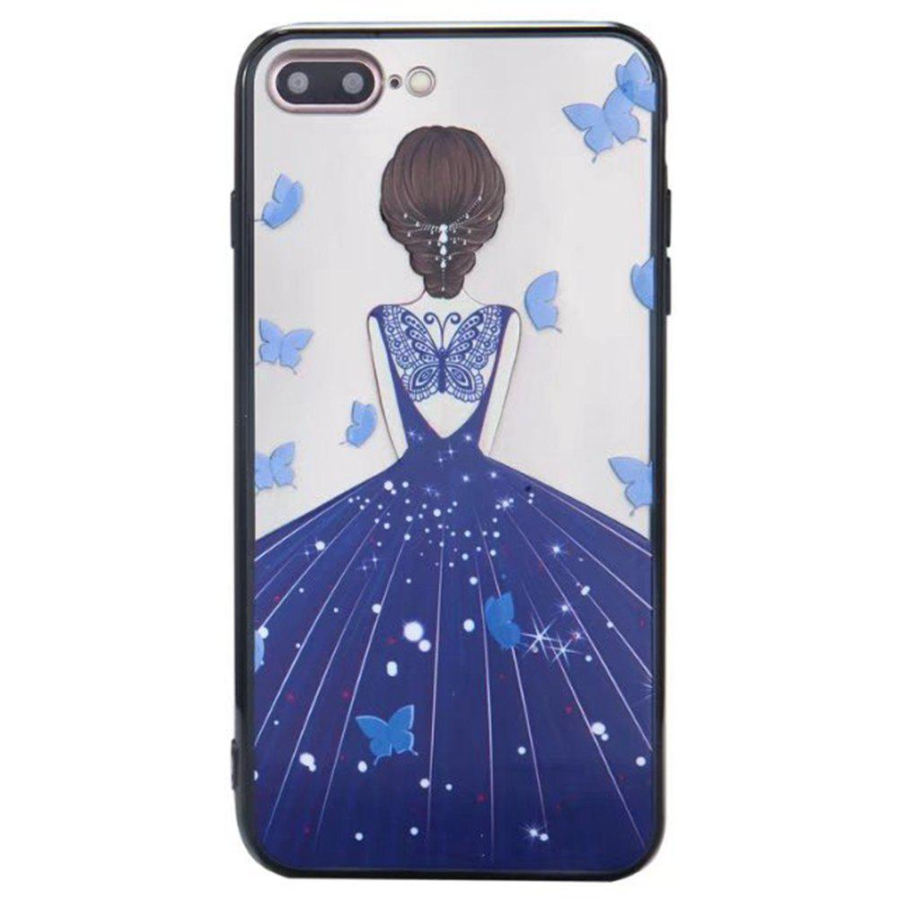 Best Cute Girl Pattern TPU and PC Back Case for iPhone 7 Plus