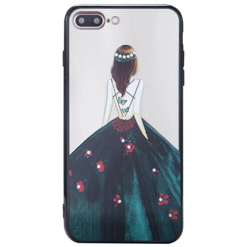 Fancy Cute Girl Pattern TPU and PC Back Case for iPhone 7 Plus