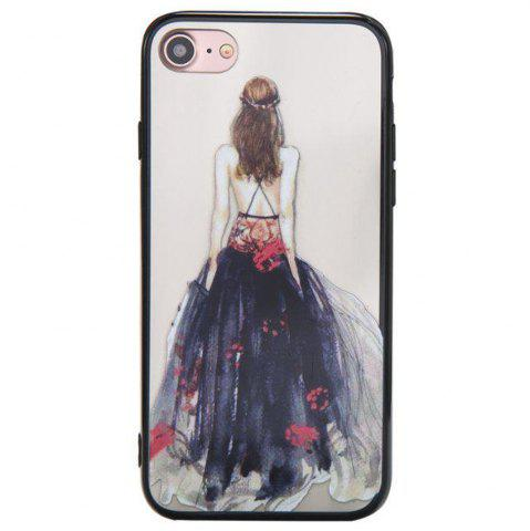 Trendy Cute Girl Pattern TPU and PC Back Case for iPhone 8