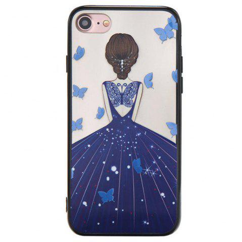 Best Cute Girl Pattern TPU and PC Back Case for iPhone 8