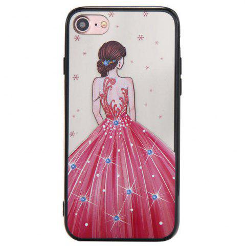 Buy Cute Girl Pattern TPU and PC Back Case for iPhone 8