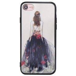 Cute Girl Pattern TPU and PC Back Case for iPhone 8 -