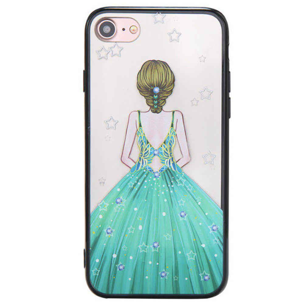 Sale Cute Girl Pattern TPU and PC Back Case for iPhone 8