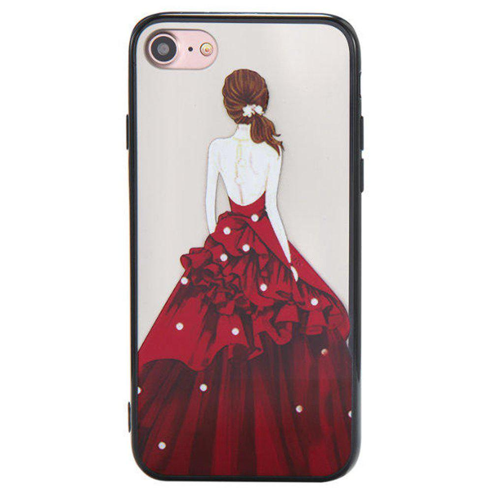 Shops Cute Girl Pattern TPU and PC Back Case for iPhone 8