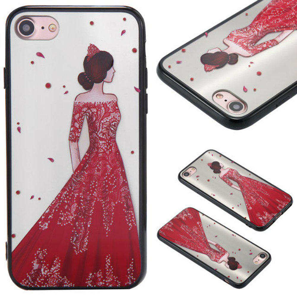 Fancy Cute Girl Pattern TPU and PC Back Case for iPhone 8