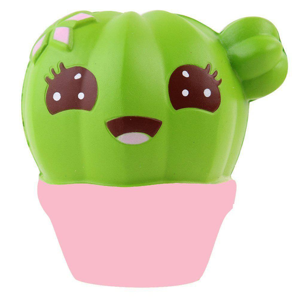 Squishy Cactus Scented Jumbo Slow Rising Relief ToyHOME<br><br>Color: COLORMIX; Products Type: Pressure Reducing Toy; Materials: PU; Pattern Type: Cartoon Character; Age Range: ? 10 years old;
