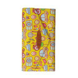 Cartoon Hand-painted Leather Wallet -