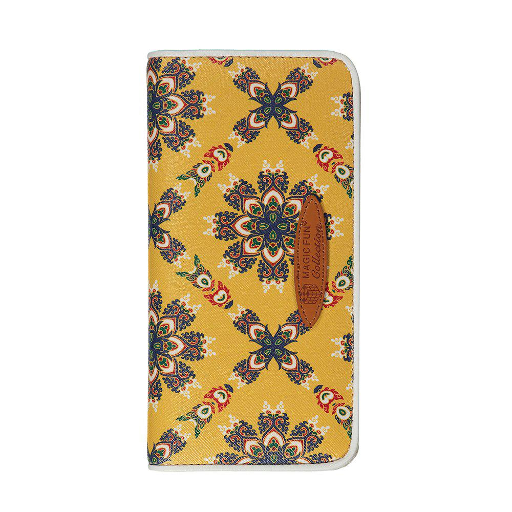 Hot Cartoon Hand-painted Colorful Leather Wallet