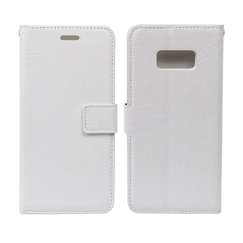 Affordable Detachable PU Leather Flip Folio Cover Case with Credit Holder Built-in Card Slots for Samsung Galaxy S8
