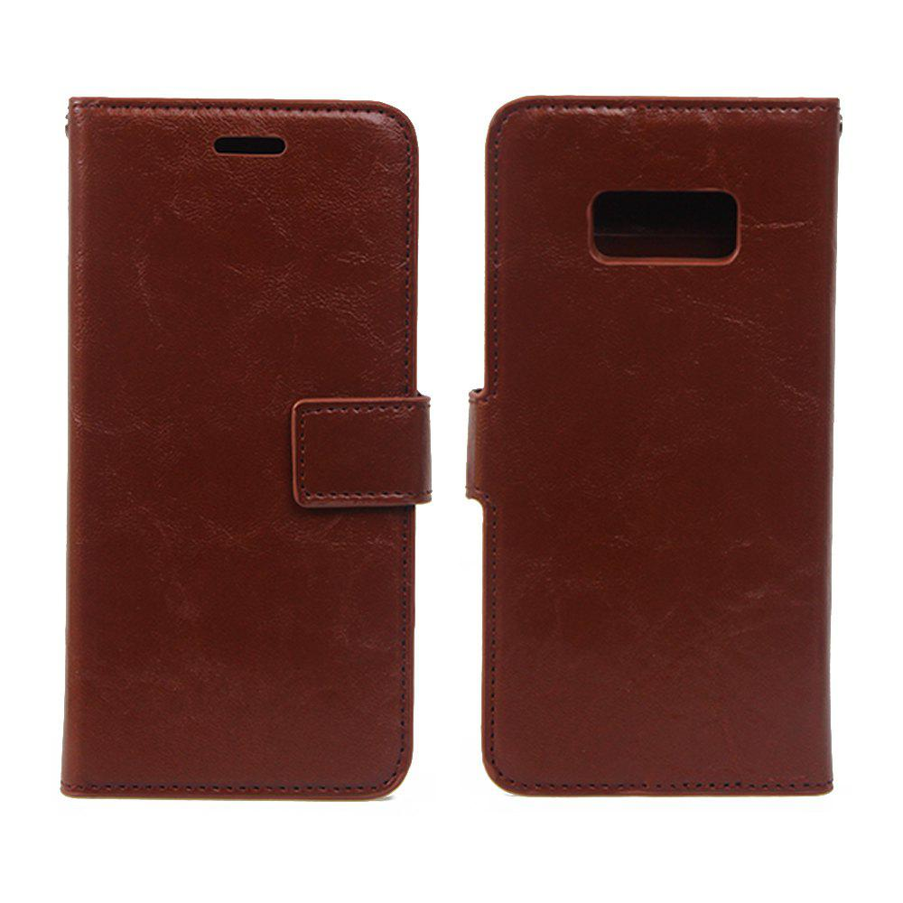 Cheap Detachable PU Leather Flip Folio Cover Case with Credit Holder Built-in Card Slots for Samsung Galaxy S8
