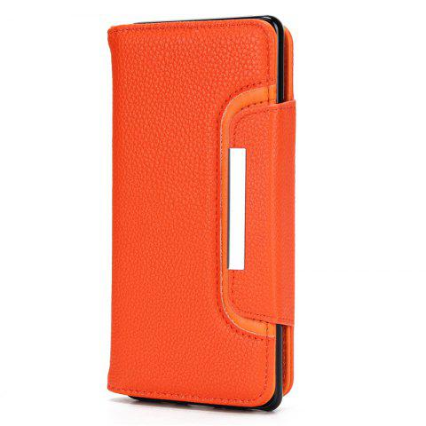 Best 2 in 1 Magnetic Detachable Lichee Pattern Case with Card Slots for iPhone X