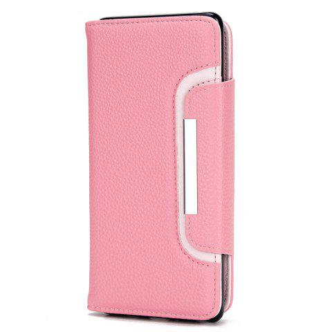 Chic 2 in 1 Magnetic Detachable Lichee Pattern Case with Card Slots for iPhone X