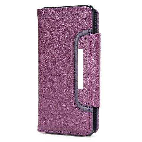 Outfit 2 in 1 Magnetic Detachable Lichee Pattern Case with Card Slots for iPhone X