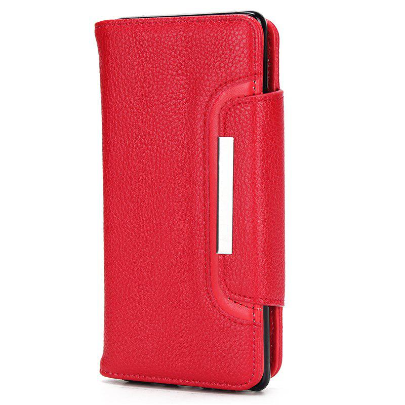 Outfits 2 in 1 Magnetic Detachable Lichee Pattern Case with Card Slots for iPhone X