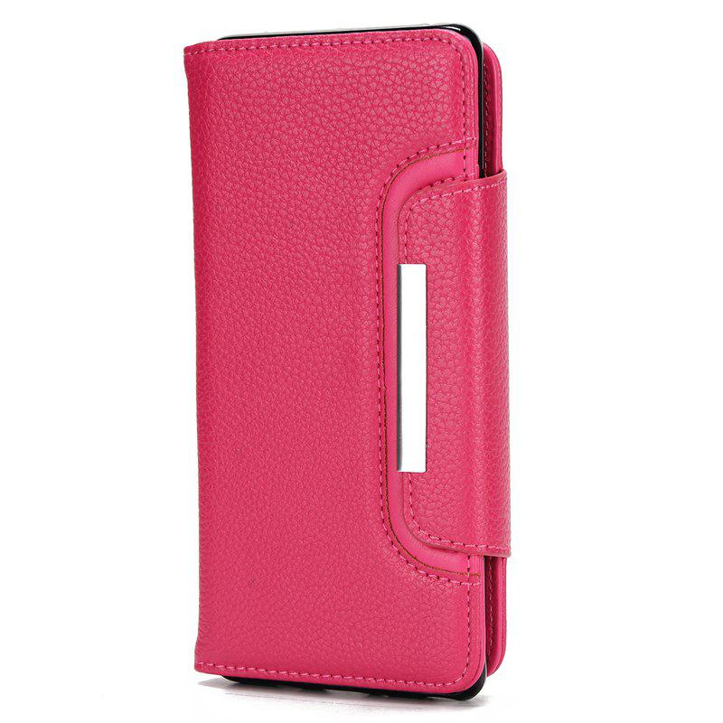 Hot 2 in 1 Magnetic Detachable Lichee Pattern Case with Card Slots for iPhone X