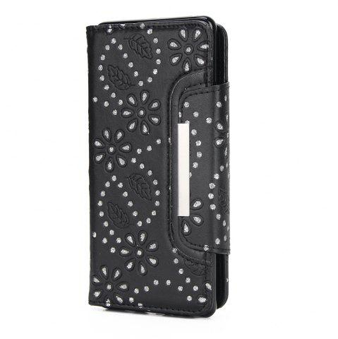 Hot 2 in 1 Magnetic Detachable Glitter Pigment Phone Case with Card Slots for Samsung Galaxy Note 8