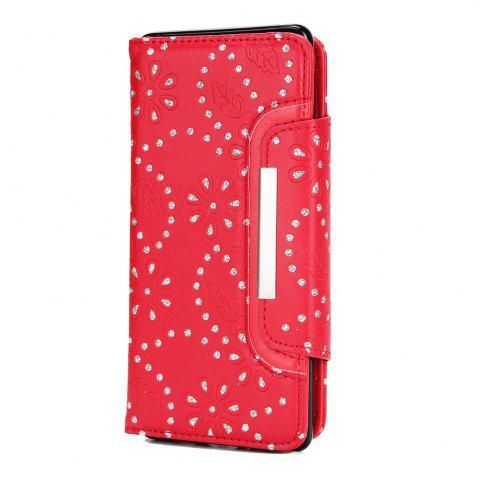 Unique 2 in 1 Magnetic Detachable Glitter Pigment Phone Case with Card Slots for Samsung Galaxy Note 8