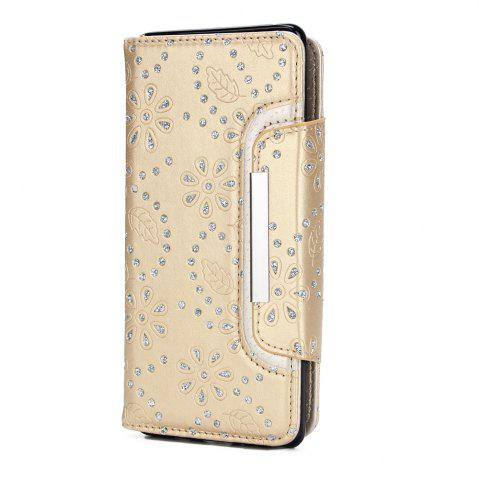 Outfits 2 in 1 Magnetic Detachable Glitter Pigment Phone Case with Card Slots for Samsung Galaxy Note 8