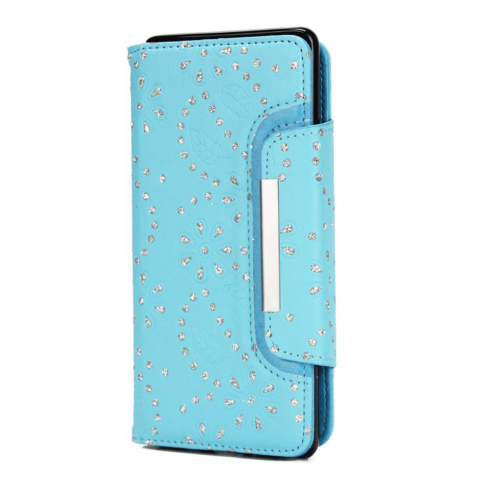 Buy 2 in 1 Magnetic Detachable Glitter Pigment Phone Case with Card Slots for Samsung Galaxy Note 8