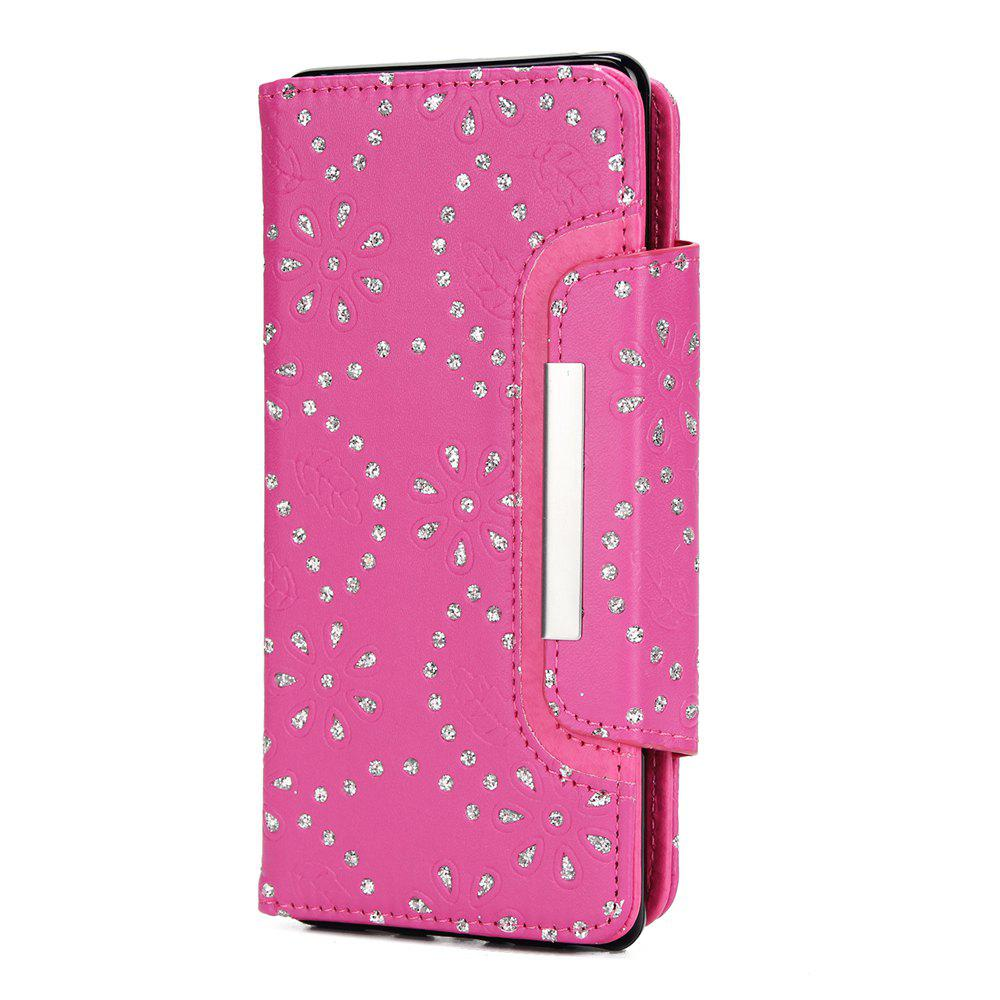 Trendy 2 in 1 Magnetic Detachable Glitter Pigment Phone Case with Card Slots for Samsung Galaxy Note 8