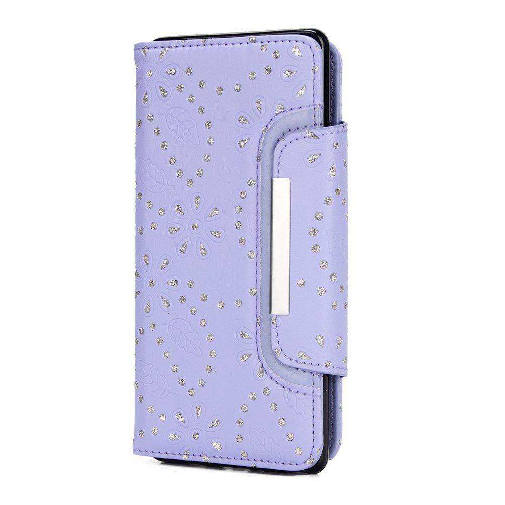 Chic 2 in 1 Magnetic Detachable Glitter Pigment Phone Case with Card Slots for Samsung Galaxy Note 8