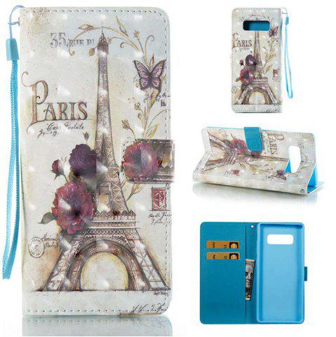 Trendy 35 Tower 3D Painted Dot Drill Phone Case for Samsung Galaxy Note 8