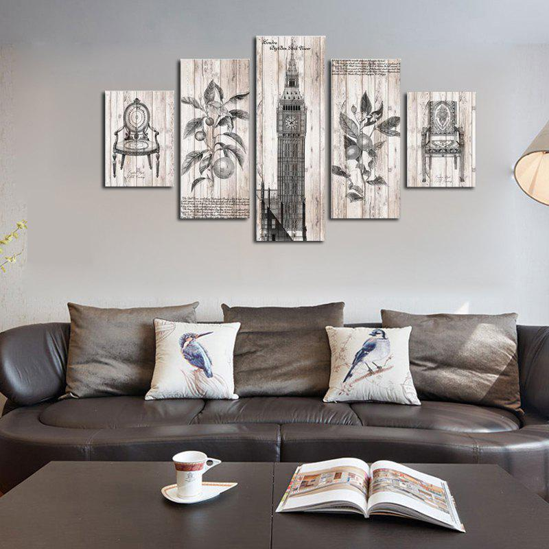 2018 Qiaojiaohuanyuan No Frame Canvas Tower Decoration Print 5pcs In ...
