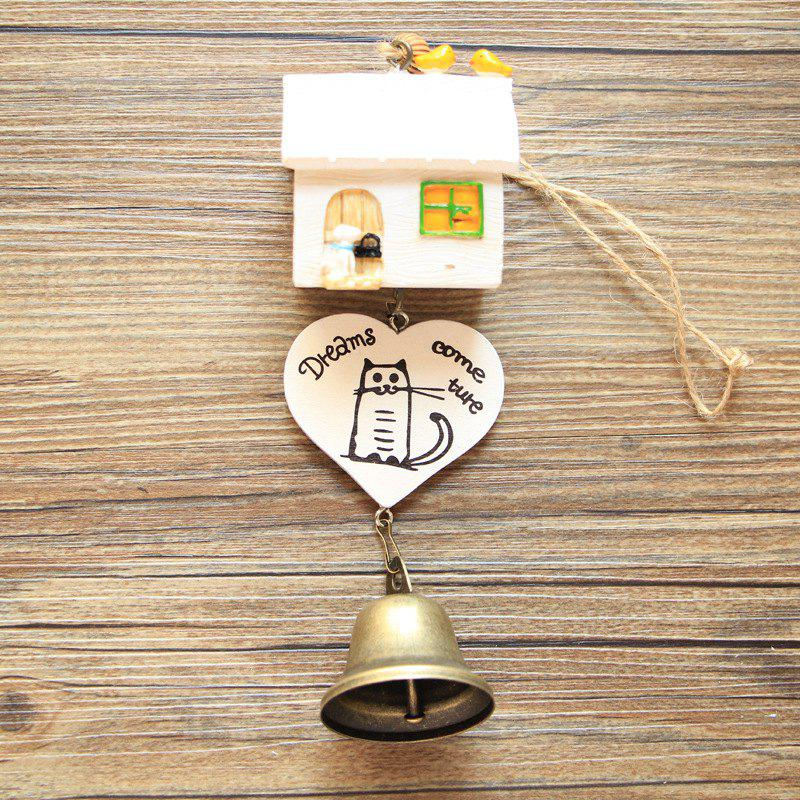 Online Small House Wind Chimes for Home Hanging Decoration