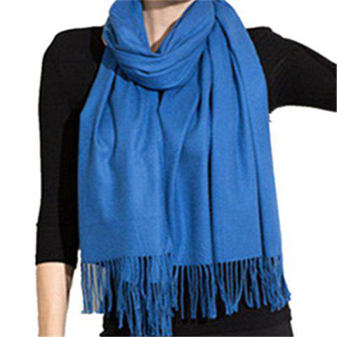 Shop Autumn and Winter Fashion Simple Street Style Characteristics Tassel Long Scarf