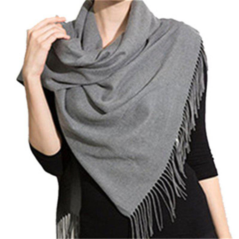 Outfits Autumn and Winter Fashion Simple Street Style Characteristics Tassel Long Scarf