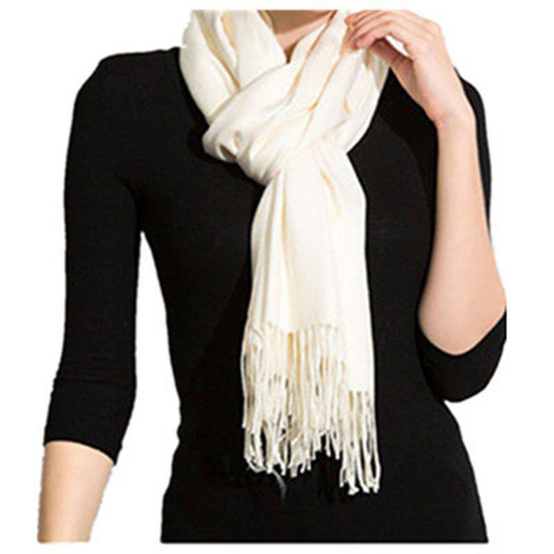 Shops Autumn and Winter Fashion Simple Street Style Characteristics Tassel Long Scarf