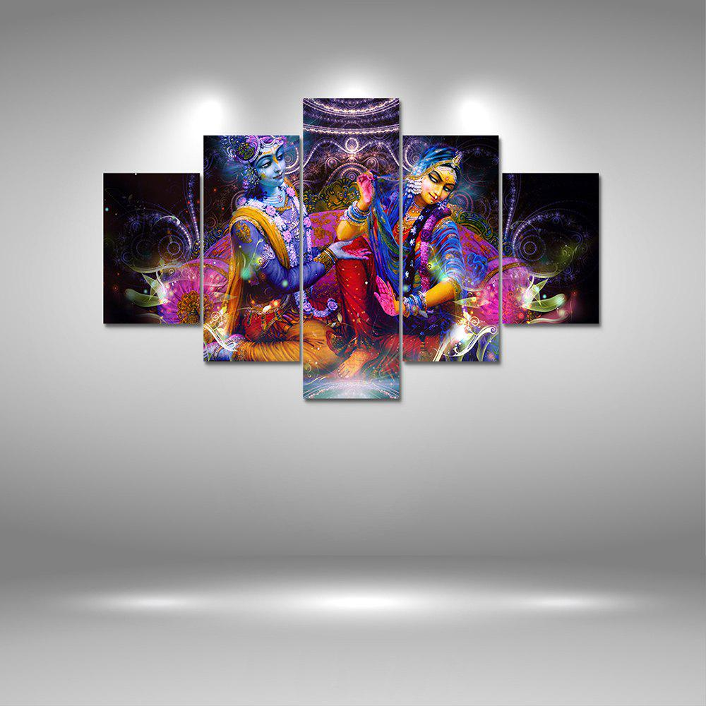Sale Radha Krishna Canvas Print Painting Home Decoration Wall Art Picture 5PCS & Colormix Radha Krishna Canvas Print Painting Home Decoration Wall ...