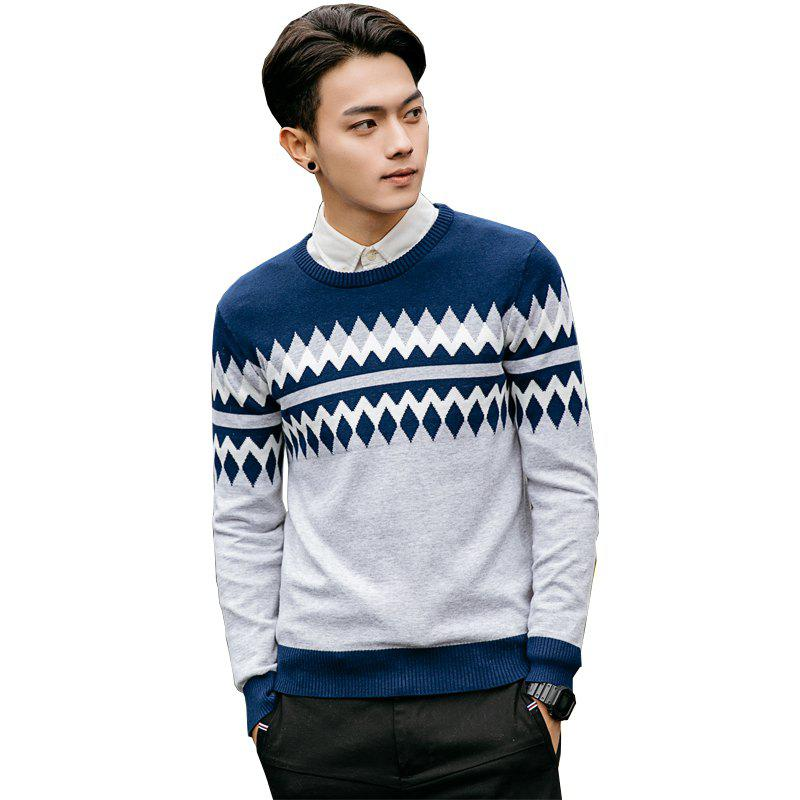 Sale Men's Printed Knitted Sweater