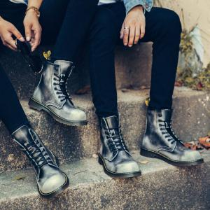 Bottes en cuir de couple d'affaires Gentle Outdoor Casual British Shoes -