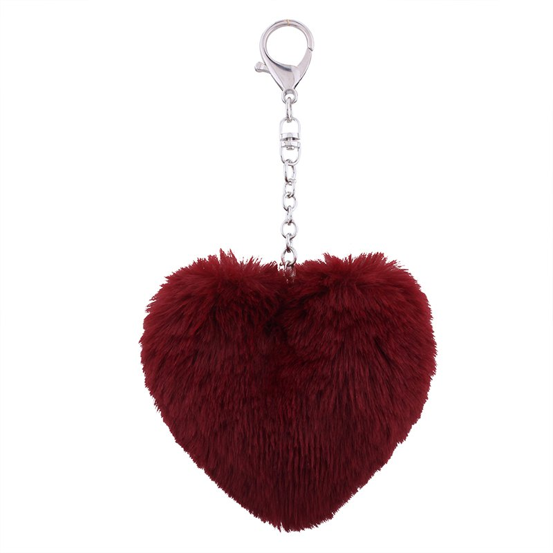 Fashion Love Plush Multi-style Girls Bag Pendant Accessories Key Ring
