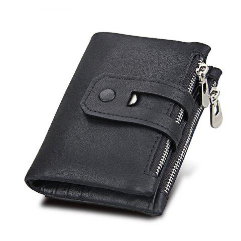 Affordable Short Genuine Leather Cowhide Men Wallet Business Card Coin Money Male Purse Card Holder