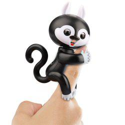 Finger Squirrel Interactive Pet Kids Smart Colorful Fingers Smart Induction Electronic Toys for Kids Children - Black
