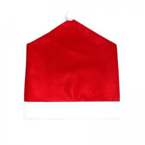 10pcs Christmas Decoration Red Hat Chair Covers -